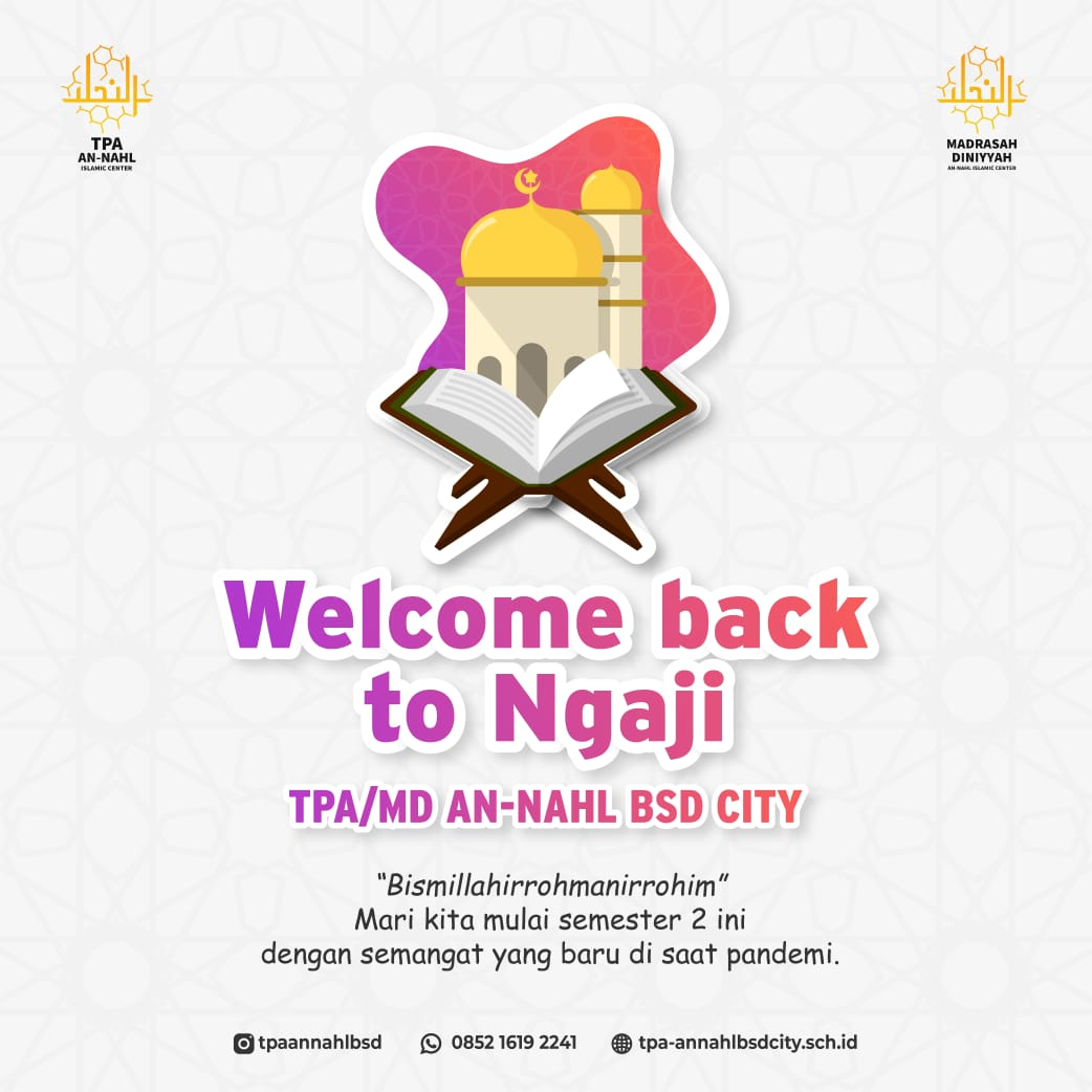 WELCOME BACK TO NGAJI